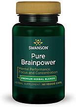 Растителный экстракт Свансон Чистая мозговая сила США Swanson Pure Brainpower USA 60 капсул
