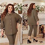 Літній костюм туніка вільного фасону і штани розмір: 48-50, 52-54, 56-58, 60-62, 64-66, фото 6