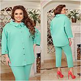 Літній костюм туніка вільного фасону і штани розмір: 48-50, 52-54, 56-58, 60-62, 64-66, фото 7