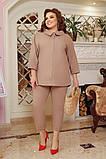 Літній костюм туніка вільного фасону і штани розмір: 48-50, 52-54, 56-58, 60-62, 64-66, фото 5