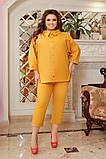 Літній костюм туніка вільного фасону і штани розмір: 48-50, 52-54, 56-58, 60-62, 64-66, фото 3