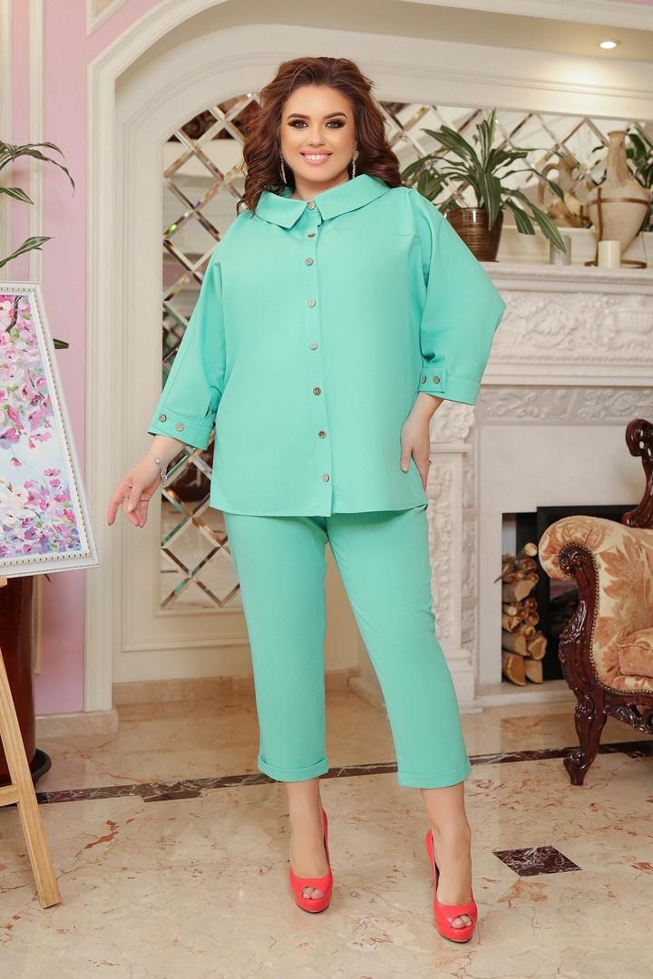 Літній костюм туніка вільного фасону і штани розмір: 48-50, 52-54, 56-58, 60-62, 64-66