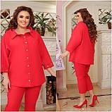 Літній костюм туніка вільного фасону і штани розмір: 48-50, 52-54, 56-58, 60-62, 64-66, фото 8