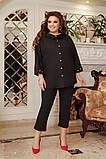 Літній костюм туніка вільного фасону і штани розмір: 48-50, 52-54, 56-58, 60-62, 64-66, фото 4