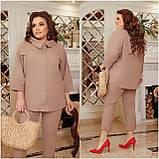 Літній костюм туніка вільного фасону і штани розмір: 48-50, 52-54, 56-58, 60-62, 64-66, фото 9