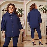 Літній костюм туніка вільного фасону і штани розмір: 48-50, 52-54, 56-58, 60-62, 64-66, фото 10