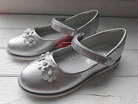 Туфлі ТОММ 5282B святкові ромашки silver 23-32