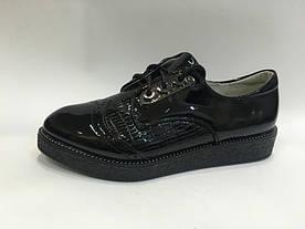 Туфлі лакові ТОмМ 0759В шнурки