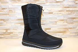 Чоботи дутики жіночі чорні зимові С861