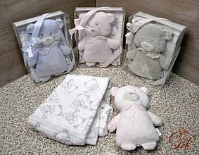 Плед - м'яка іграшка 2 в 1 (Мишко рожевий)