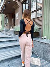 Женский топ с длинным рукавом и открытой спиной Foxy 42-46 р, фото 2