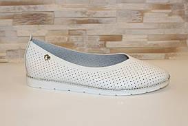 Туфли балетки женские белые Т1221