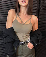 Женская стильная майка-топ с Push Up, фото 1