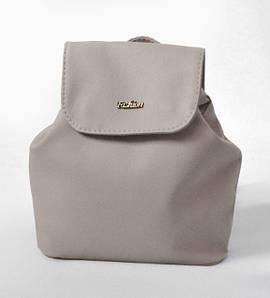 Женский серый мини рюкзак код 9-52 1402479143