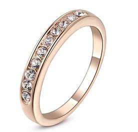 Позолоченное кольцо с австрийскими кристаллами код 193