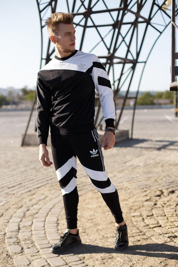 Мужской спортивный костюм рефлективные лампасы и логотип Ф