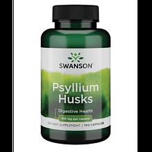 Растителный экстракт Свансон Шелуха подорожника для кишечника 610 мг США Swanson Psyllium Husks USA 100 капсул