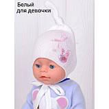 Шапочка для младенца девочки, Светло розовый, 40, фото 3