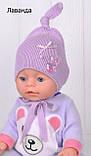 Шапочка для младенца девочки, Светло розовый, 40, фото 7