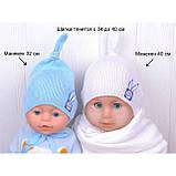 Шапочка для младенца девочки, Светло розовый, 40, фото 10