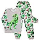 Подростковая пижама T-Rex для мальчика интерлок-пенье, фото 3