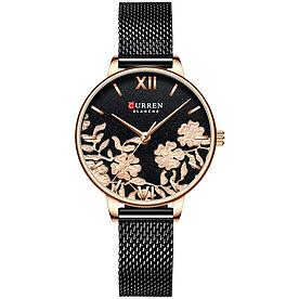Стильні жіночі наручні годинники з чорним ремінцем код 495