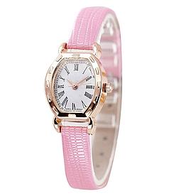 Наручний годинник жіночі з рожевим ремінцем код 291