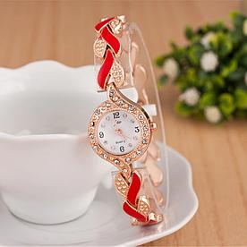 Наручний жіночий годинник із золотим браслетом код 334