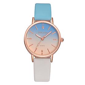 Жіночі наручні годинники з кольоровим пасочком код 500