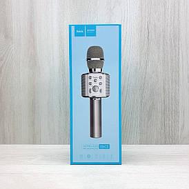 Беспроводной микрофон с колонкой Hoco BK3 (серебряный)