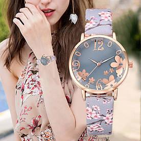 Жіночі наручні годинники з квітковим принтом код 531