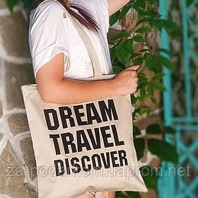 Эко сумка Market Dream Travel Discover