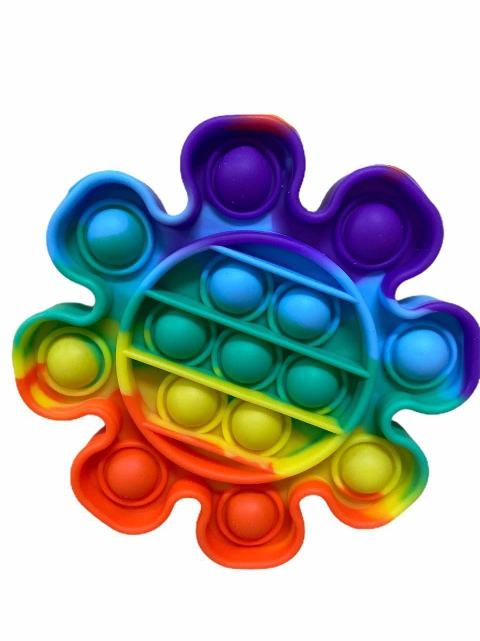 Сенсорная игрушка Pop It Push Bubble Fidget Antistress Бесконечная Пупырка антистресс, цветок радужная