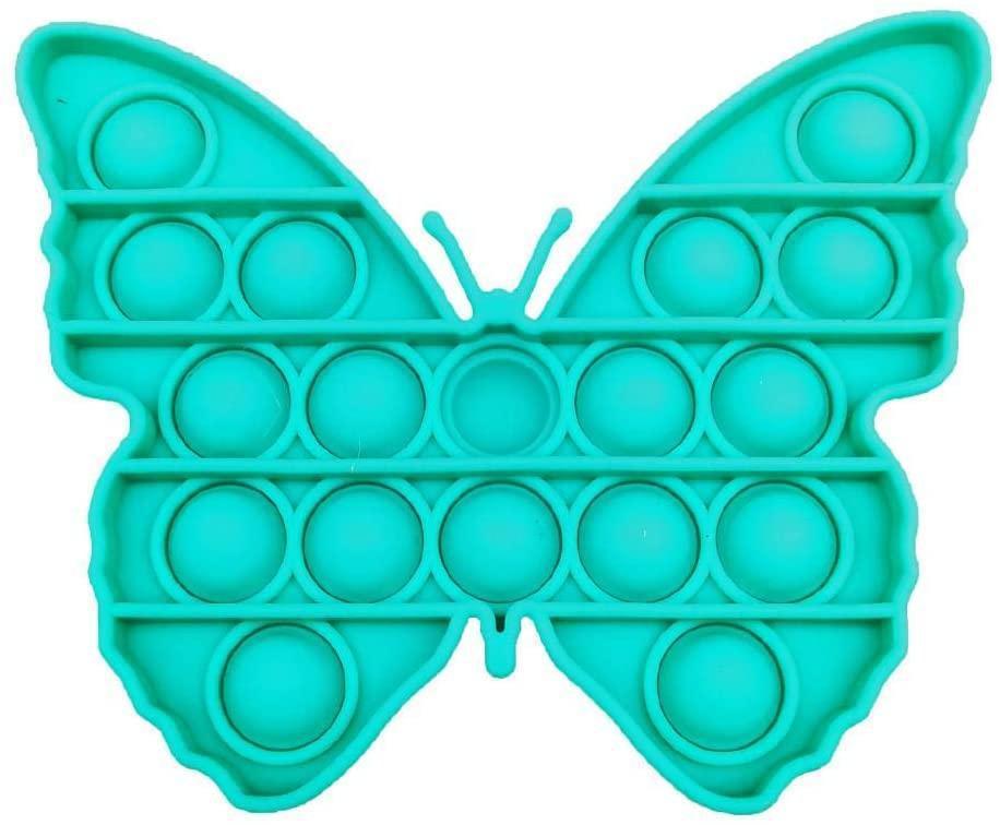 Сенсорная игрушка Pop It Push Bubble Fidget Antistress Бесконечная Пупырка Бабочка мятная, ширина 12,5см