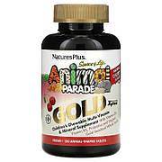 Мультивитамины для Детей, Вкус Вишни, Animal Parade Gold, Natures Plus, 120 жевательных таблеток