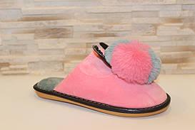 Тапочки кімнатні жіночі рожеві Вушка з кроликом Тп78