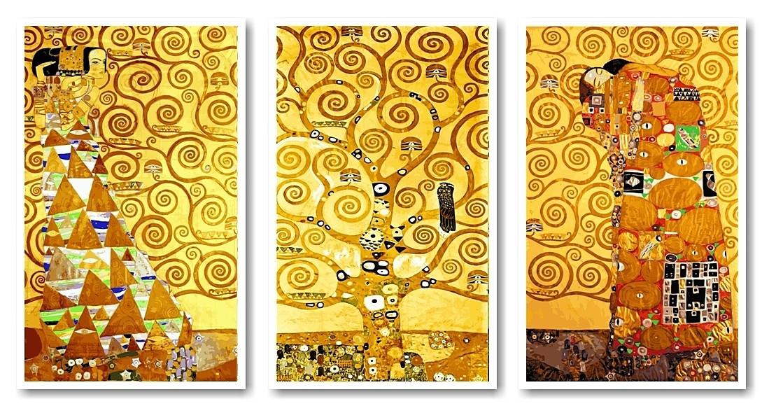 Раскраски для взрослых  50 х 90 см. Триптих Ожидание - Древо жизни - Свершение
