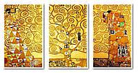 Картины по номерам 50х120 см. Триптих Ожидание - Древо жизни - Свершение