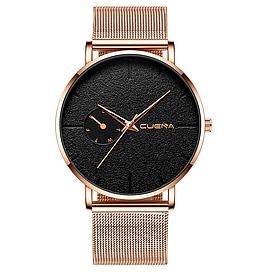 Наручні кварцові годинники з золотистим ремінцем код 493
