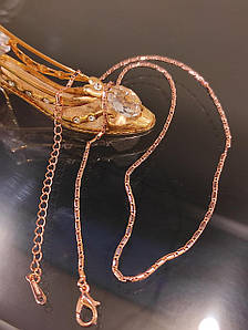 Ланцюжок жіноча позолочена 45 см код 1570
