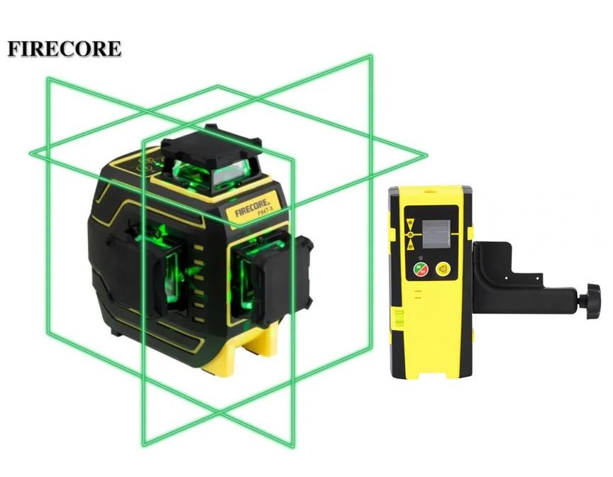 ТОП ПРОДАЖУ ᐉ ᐉ Лазерний рівень Firecore F94T-XG➤ приймач променя в комплекті ᐉᐉ ГАРАНТІЯ 1рік ➤ протиударний