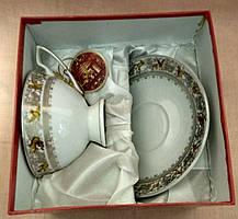 """Набор фарфоровый чайный - чашка с блюдцем """"SТ"""" в подарочной упаковке, фото 2"""