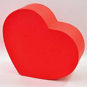 Коробка сердце среднее красное