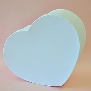 Коробка сердце большое белое