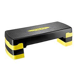 Степ-платформа 3-ступінчаста чорний/жовтий