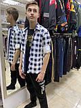 Рубашка  клетка на кнопке подросток 11-16лет, фото 2