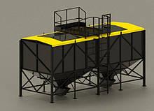 Бункер для пеллет 30м3 для запитки 2х пеллетных горелок и хранения топлива.