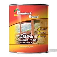 Эмаль красно-коричневая ПФ-266 Comfort Home 0.9 кг.
