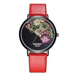 Наручний годинник BAOSAILI з червоним ремінцем код 258