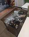 Стол кухонный нераскладной Даллас 90*60см со стеклом 16-305, фото 5